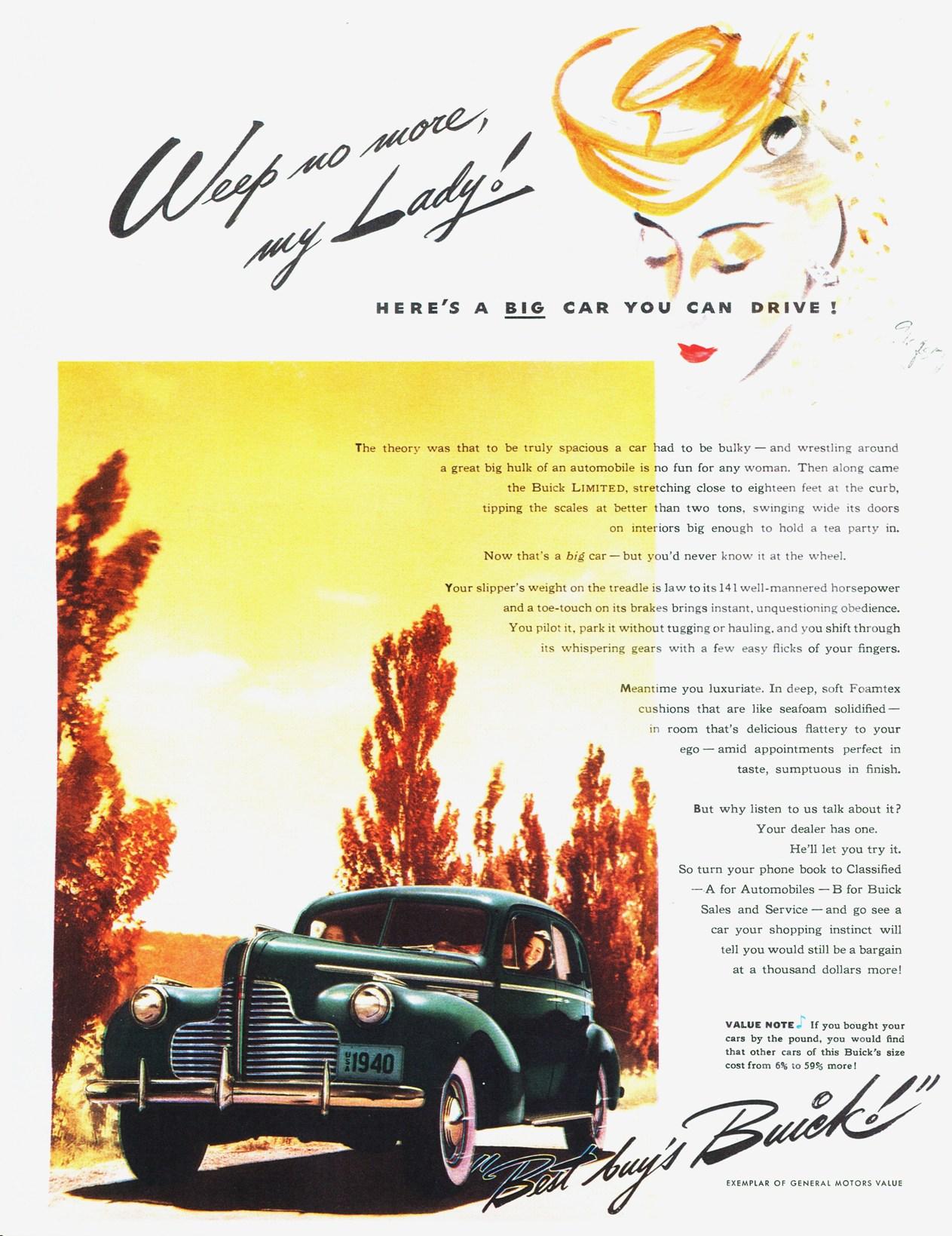 WW2 1940 Buick Car Ad