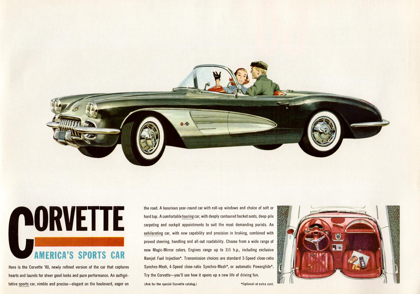 Directory Index Chevrolet Corvette1960 – Old Car Brochure