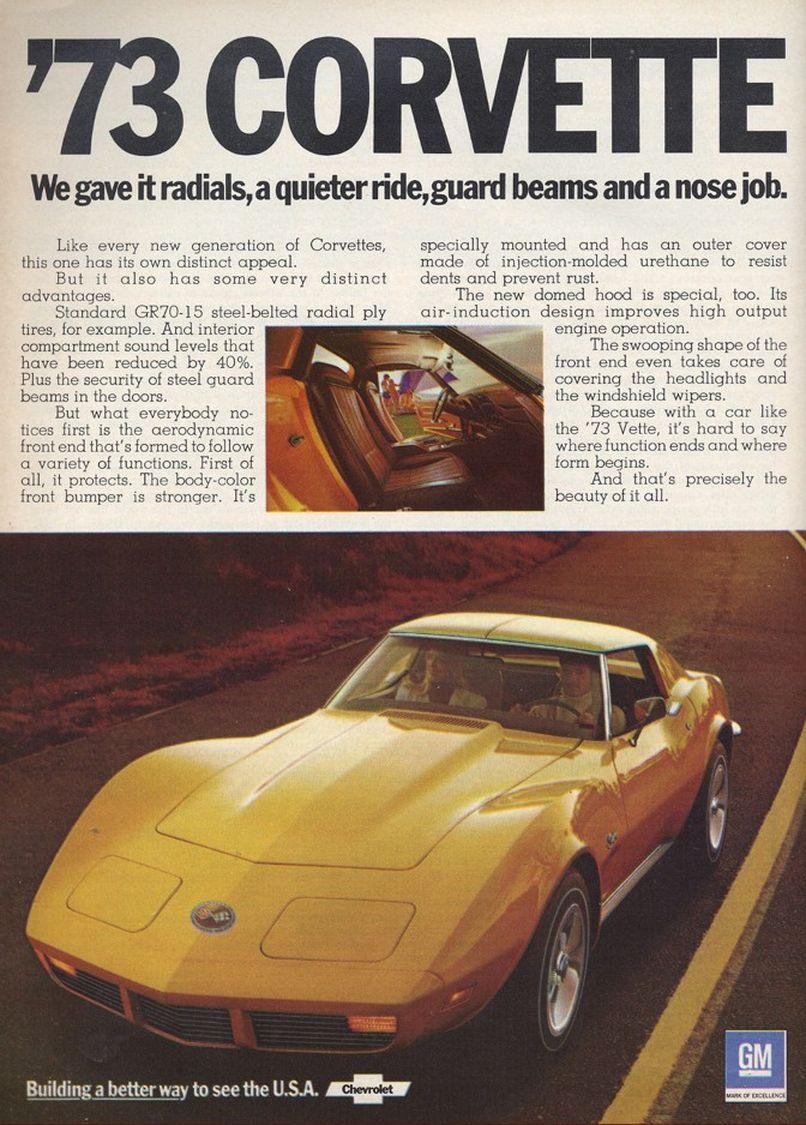 1973 Corvette Ad 01