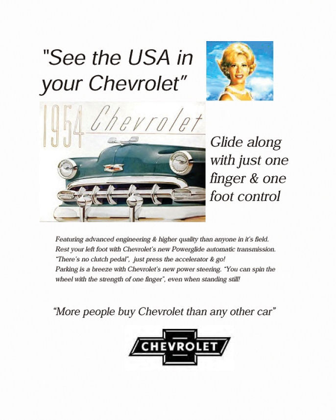 chevrolet advertisement analysis Read chevrolet volt reviews & specs, view chevrolet volt pictures & videos, and get chevrolet volt prices & buying advice for both new & used models here.