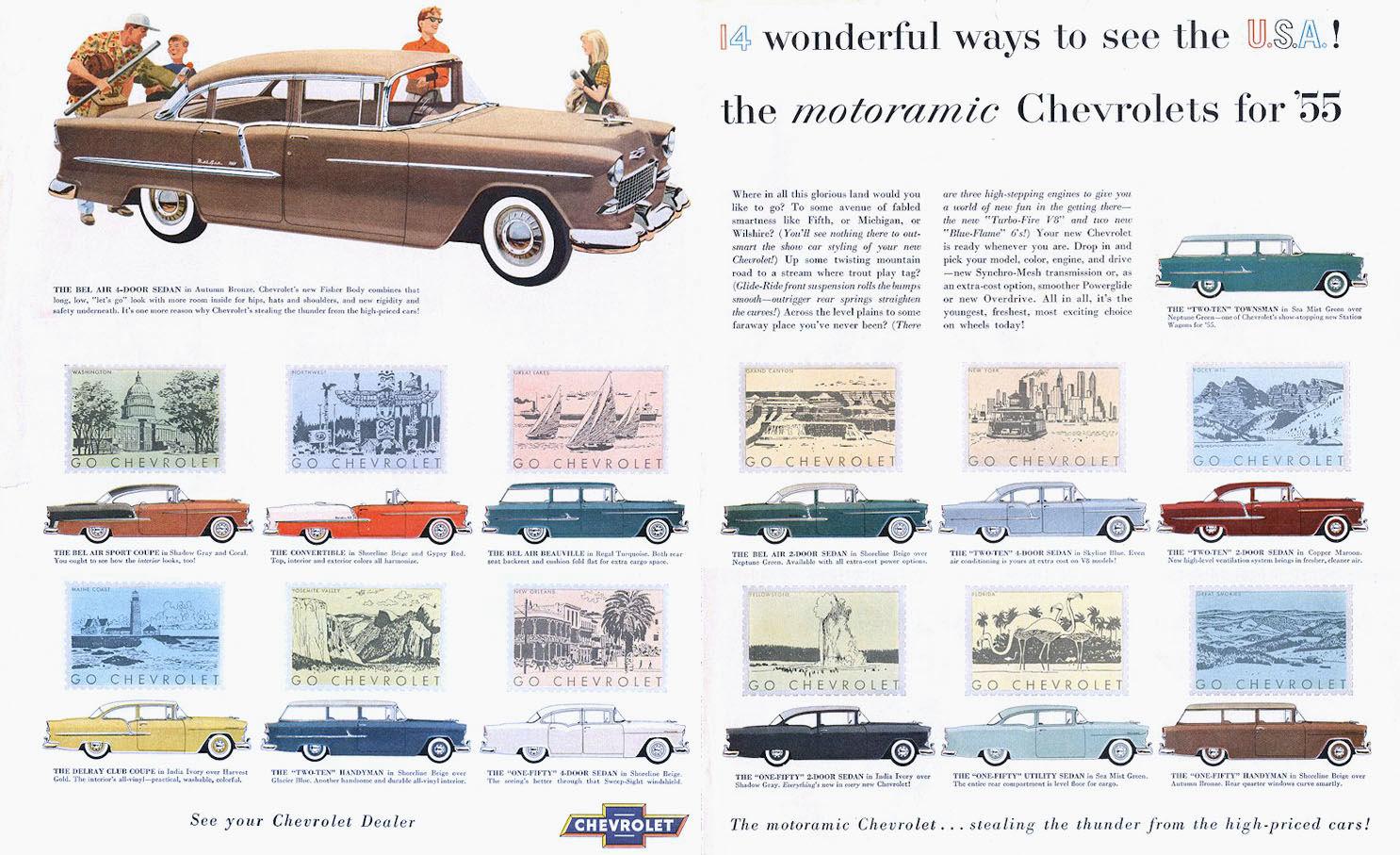 1955 Chevrolet Ad 01.