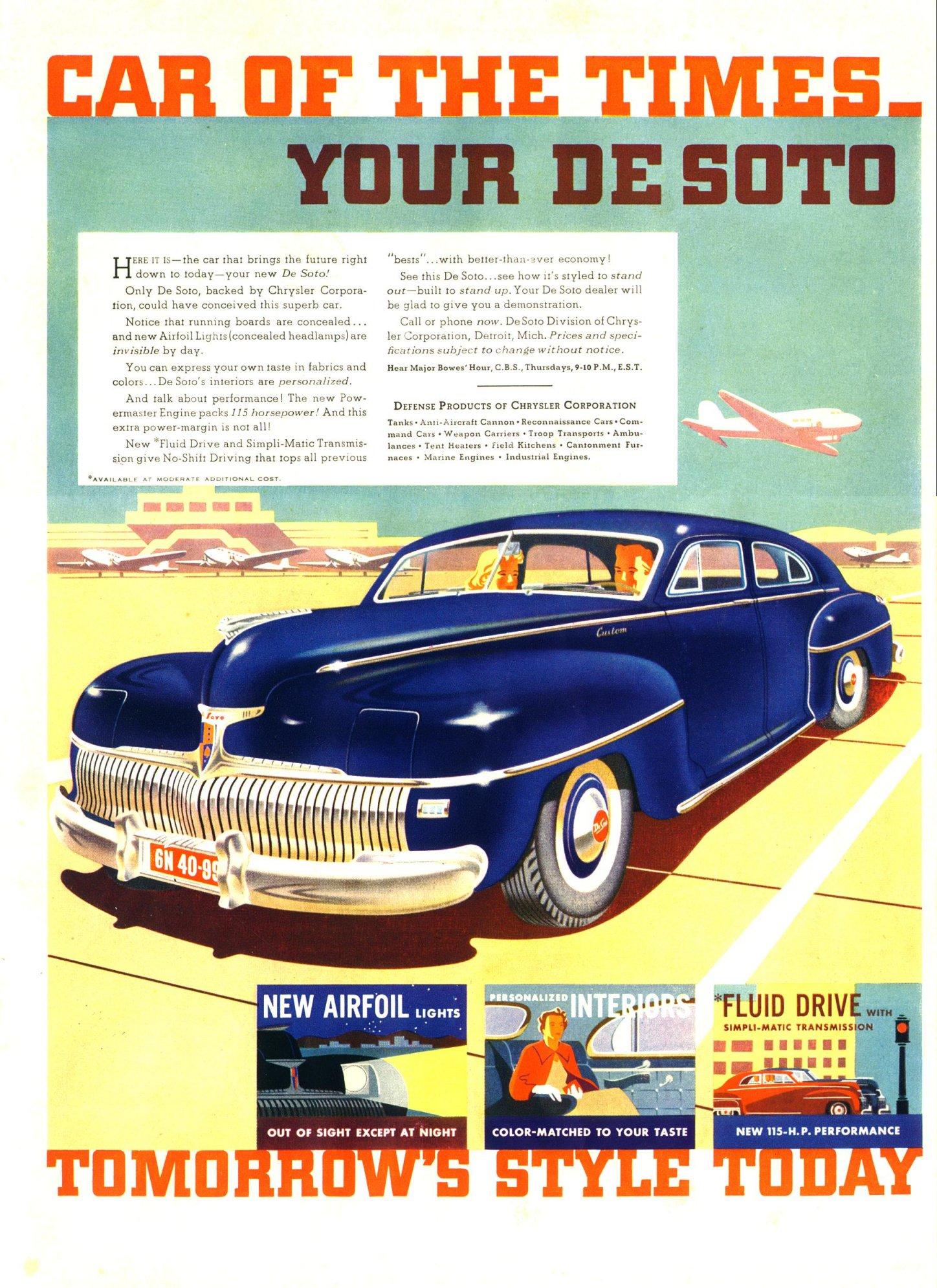 1942 DeSoto Ad