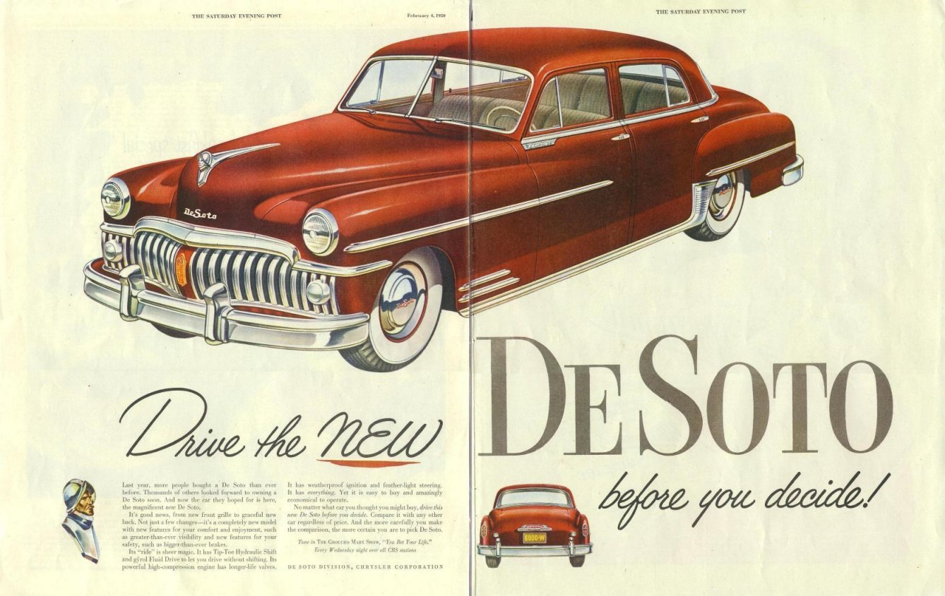1950 desoto ad 03. Black Bedroom Furniture Sets. Home Design Ideas