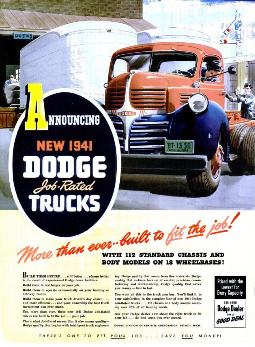 car trucks with 1941 20dodge 20truck 20ad 02 on Minimalistic Retro Car Wallpaper besides Index together with Page3 furthermore Simple Buildings 1303 moreover 1941 20Dodge 20Truck 20Ad 02.