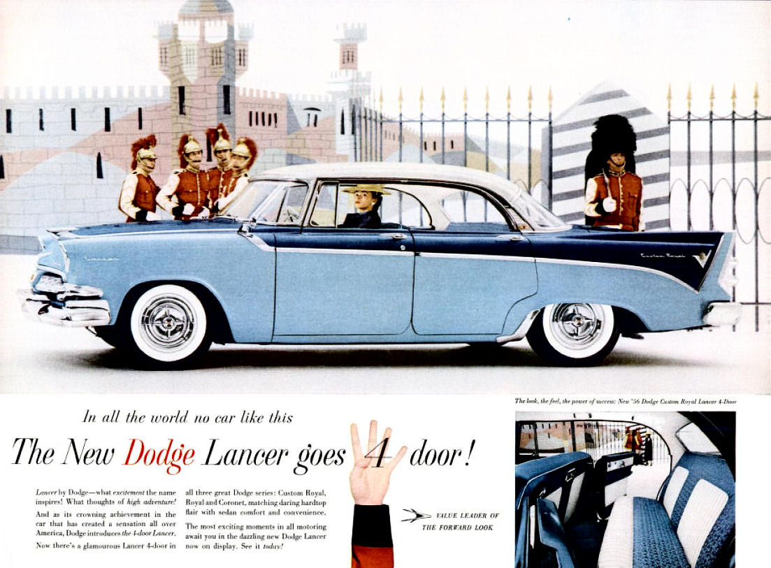 Directory Index Dodge1956 Dodge – Old Car Brochure