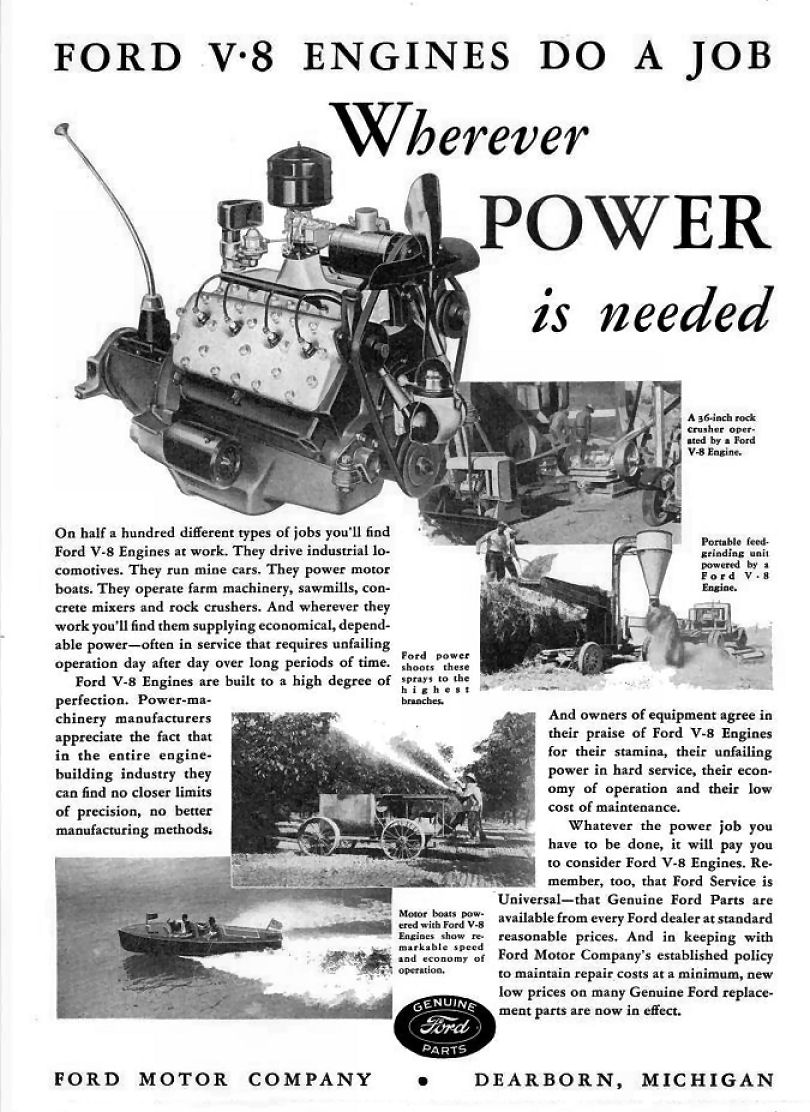 1936 fmc ad 01 for Ford motor company corporate