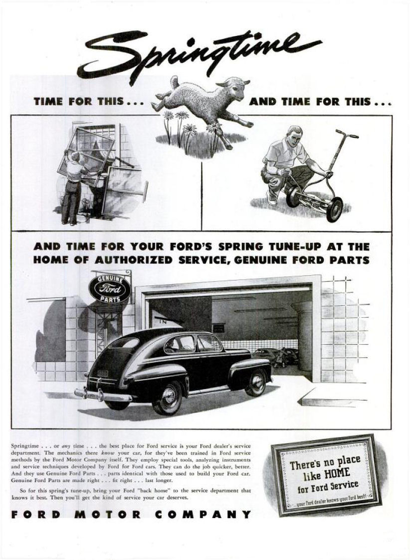 1946 fmc ad 01 for Ford motor company corporate
