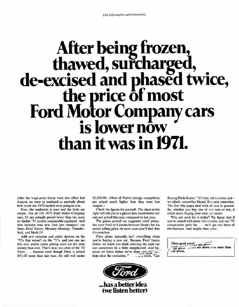 1972 fmc ad 02 for Ford motor company corporate