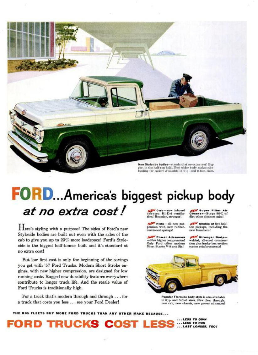1957 Ford Truck Ad-02.  sc 1 st  Old Car Advertising & Directory Index: Ford Trucks/1957 markmcfarlin.com