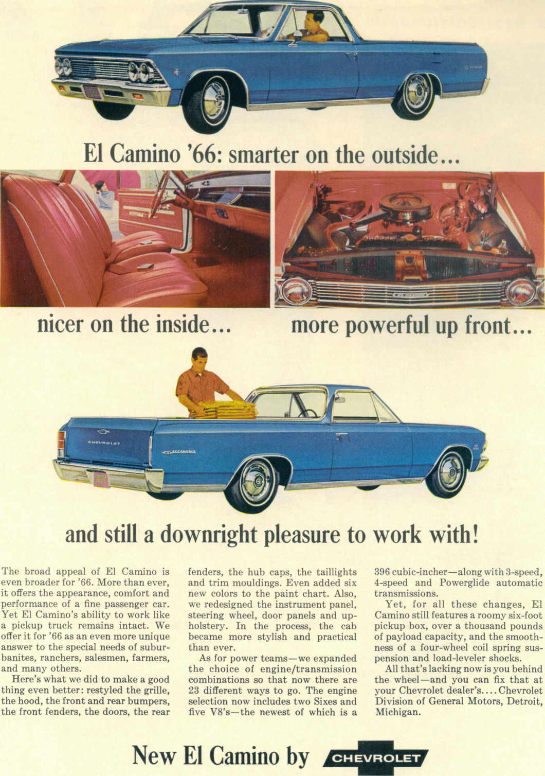 Directory Index Gm Trucks 1966 Chevrolet El Camino Ss Ad 01