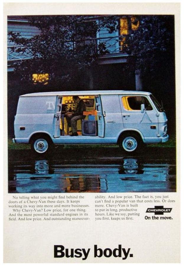 1969 Chevrolet Van Ad 01