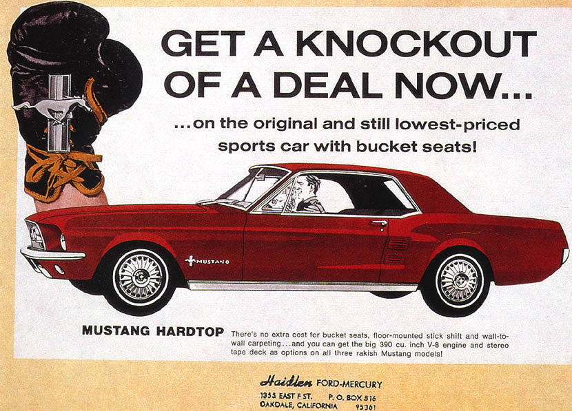 1967 Ford Mustang Ad 01