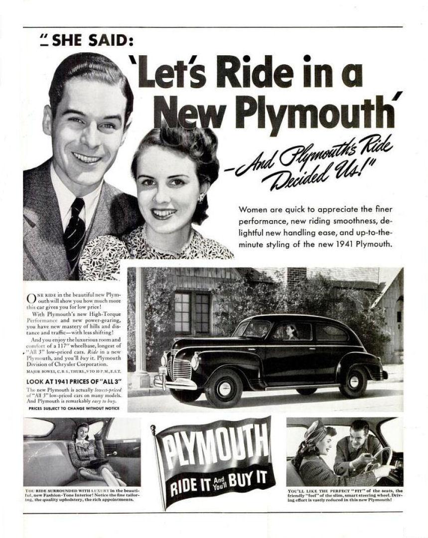 Directory Index Plymouth 1941 2 Door Sedan Ad 10